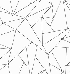 monochrome technology triangle seamless texture vector image vector image