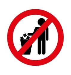 No littering prohibition sign vector
