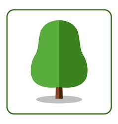 Oak linden tree icon flat vector image vector image