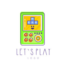 Original tetris logo electronic gadget linear vector