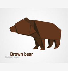 orvhami logo with brown bear vector image vector image