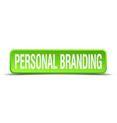 Personal branding green 3d realistic square vector