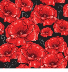 poppies seamless wallpaper vector image