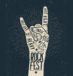 Rock festival poster flyer vector
