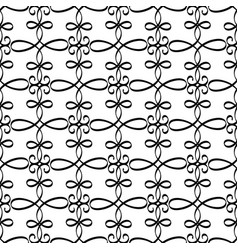 swirled black line decorative pattern vector image