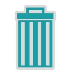 Waste delete isolated icon design vector