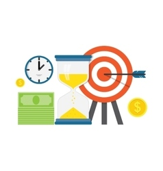 Business work planning and timing vector