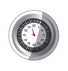 sticker screen stopwatch number timer counter icon vector image