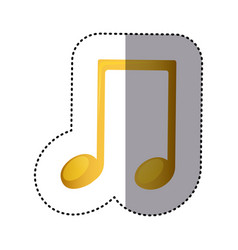 Sign music note icon vector