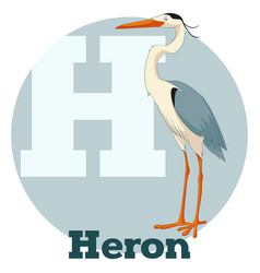 Abc cartoon heron vector