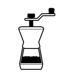 grinder coffee related icon image vector image
