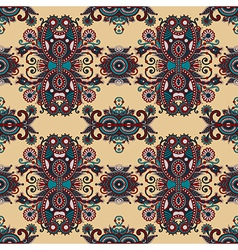 Vintage floral paisley seamless pattern vector