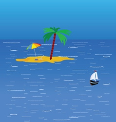 Beach on the sea color vector