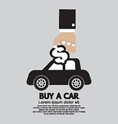 Buy a car concept vector