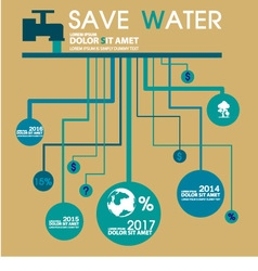 Save water info graphic design template vector