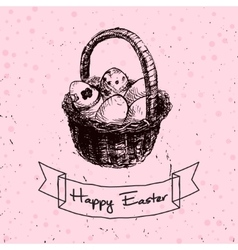 Happy easter drawn vector