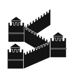 Great wall of china icon simple style vector