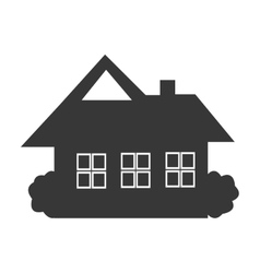 black house icon front view graphic vector image