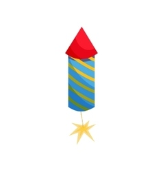 Party popper icon in cartoon style vector image