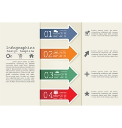 Abstract infographic Eps8 vector image vector image