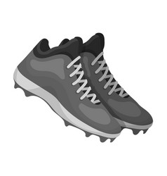 Baseball sneakers baseball single icon in vector