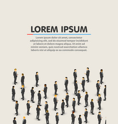 Big businessman crowd people background business vector