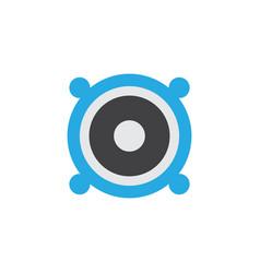 Bullhorn flat icon symbol premium quality vector
