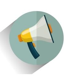 Bullhorn or megaphone vector image