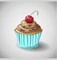 capcake chocolate hand draw vector image