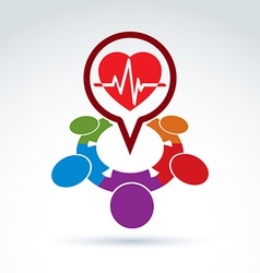 Cardiology medical and society cardiogram heart vector