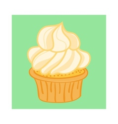 Cartoon Cupcake vector image vector image