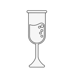 champagne glass cup vector image vector image