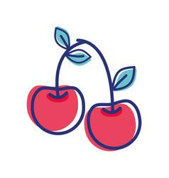 Cherry fruit icon stock vector