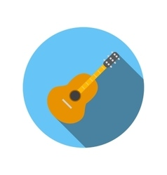 Classical guitar flat icon vector image vector image