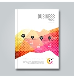 Cover report business colorful pink red triangle vector