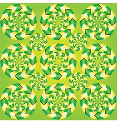Fascinating optical vector image vector image