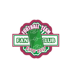 football sport soccer fan club badge icon vector image