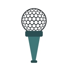 Golf ball on a tee icon vector