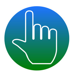 hand sign white icon in vector image