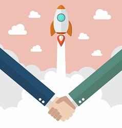 Handshake deal business vector