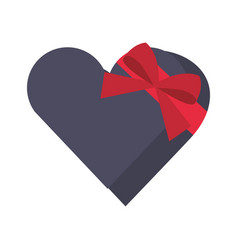 heart giftbox present isolated icon vector image