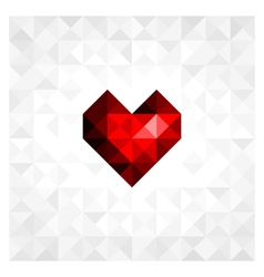 heart on background vector image