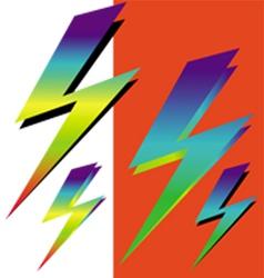 Iridescent sign of lightning vector