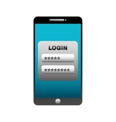login and password icon vector image vector image