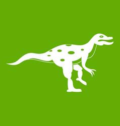 ornithopod dinosaur icon green vector image