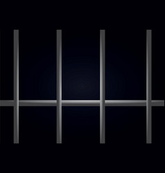 Prison bars dark cell vector