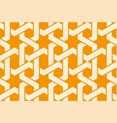 Seamless arabic ornament with entangled pattern vector