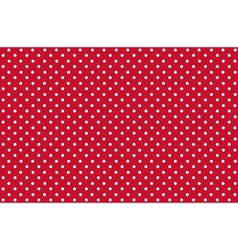 Seamless dot pattern white dots on red vector