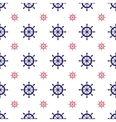 Seamless nautical pattern vector image vector image