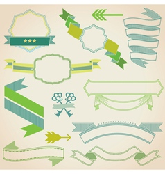 Set of Colorful Ribbons vector image vector image